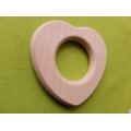 Wooden baby rattle HEART