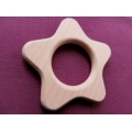 Wooden baby rattle STAR