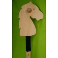 Wooden horse on a stick